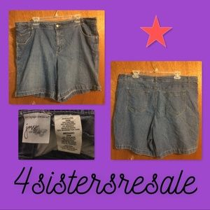 Just My Size denim shorts in women's size 20.